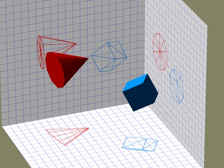 coordinates: Descriptive geometry 3D projection