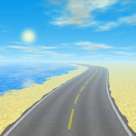 Abstract road landscape generated background Stock Photo