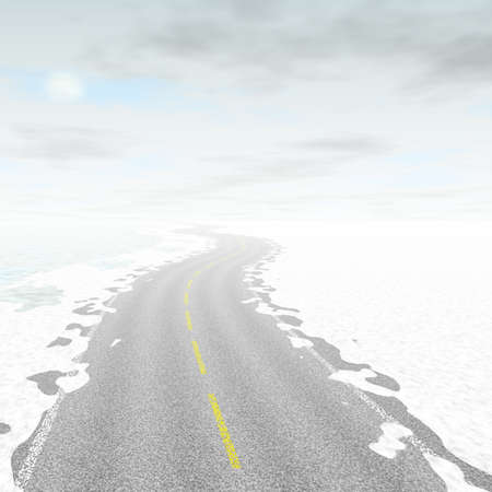 generated: Abstract road landscape generated background Stock Photo