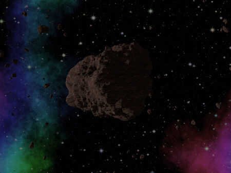 asteroid: Asteroid in space