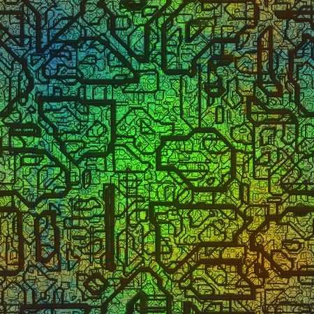 Circuits abstract generated texture Stock Photo