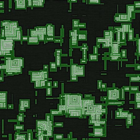 generated: Circuit squares seamless generated texture