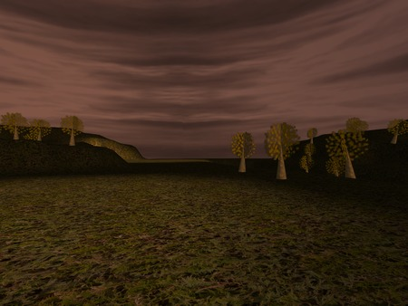 murky: Dark landscape Stock Photo