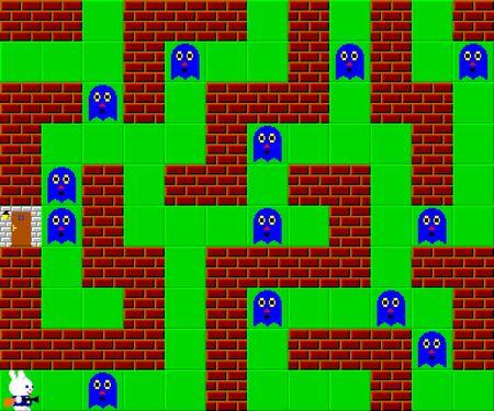 pixelated: Monsters, retro style game pixelated graphics Stock Photo