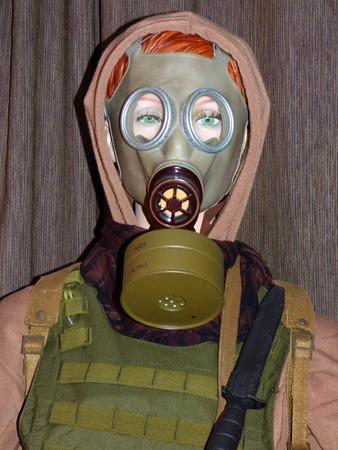 extremist: Military mannequin Stock Photo