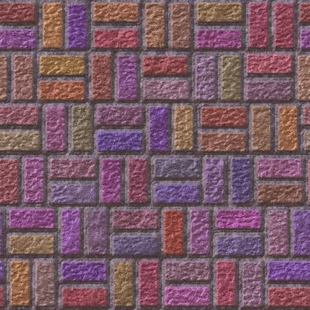 Brick pavement generated teture photo