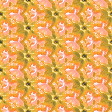 generative: Color flower seamless pattern generated texture