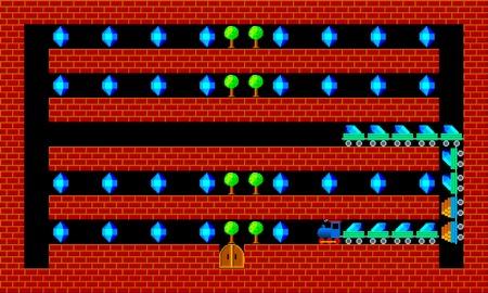 pixelate: Train, retro style game pixelated graphics