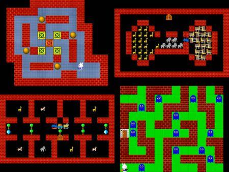 pixelated: Set of retro style game pixelated graphics Stock Photo