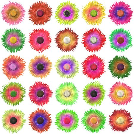 flower white: Bloom set generated texture Stock Photo