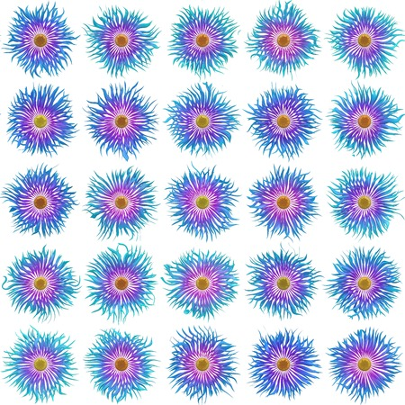 bloom: Bloom set generated texture Stock Photo