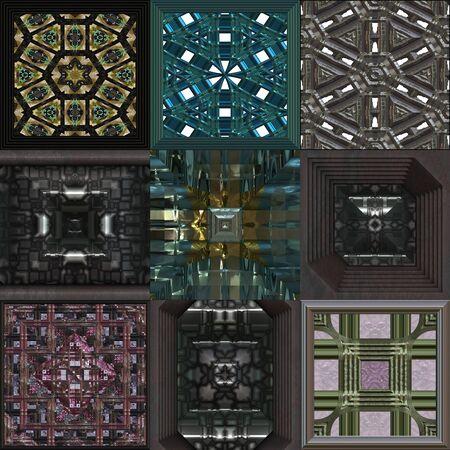 metal textures: Set of metal pattern generated textures