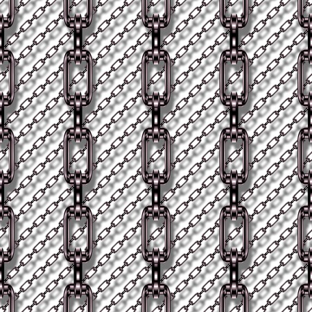 fetter: Iron chains with white background seamless texture
