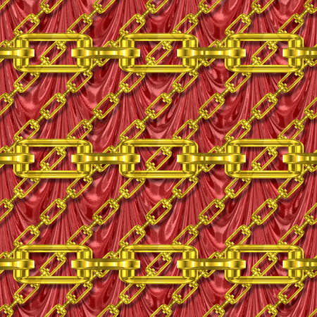festoons: Iron chains with drapery seamless texture