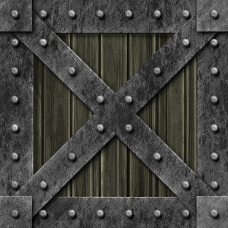 generated: Armoured box generated texture Stock Photo