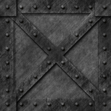 armoured: Armoured box generated texture Stock Photo