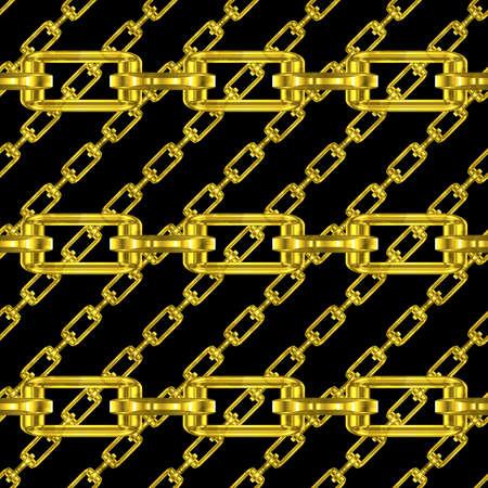 festones: Cadenas de oro con fondo negro textura perfecta Foto de archivo