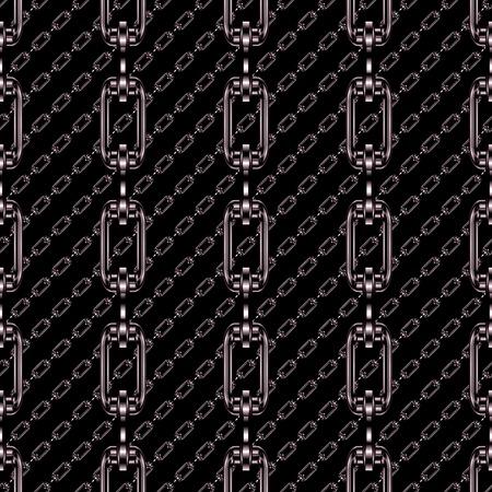 festones: Cadenas de hierro con fondo negro textura perfecta