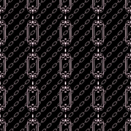 festoons: Iron chains with black background seamless texture