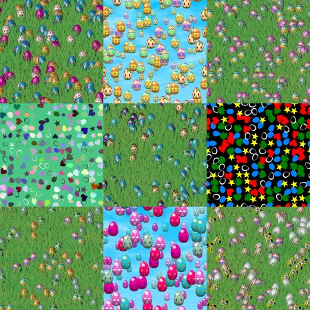 sward: Set of easter eggs generated seamless textures