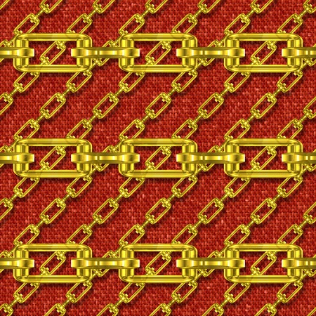 festoons: Iron chains with knit seamless texture Stock Photo