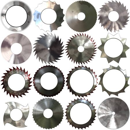 blades: Set of saw blades generated textures Stock Photo