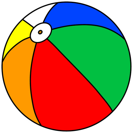 throwing ball: Beach Ball