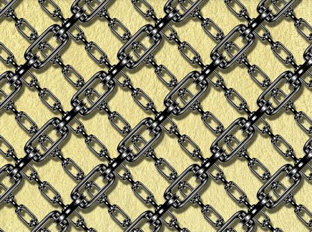 festoons: Iron chains with terry towel texture
