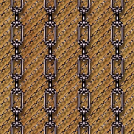 festones: Cadenas de hierro con madera de la textura perfecta