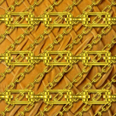 Iron chains with plush texture