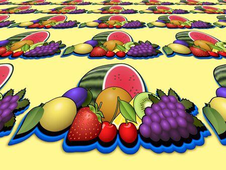 heap: Fruits heap perspective image Stock Photo