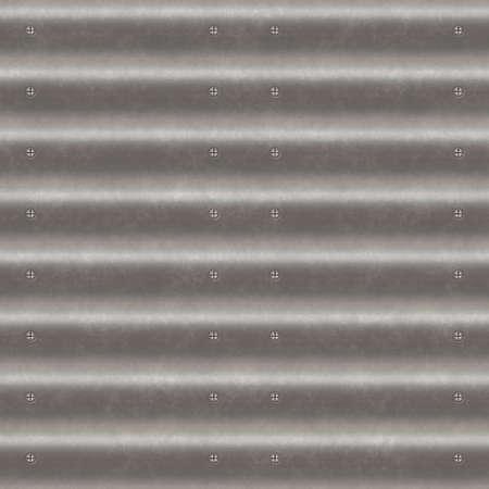 corrugated iron: Corrugated iron seamless generated texture