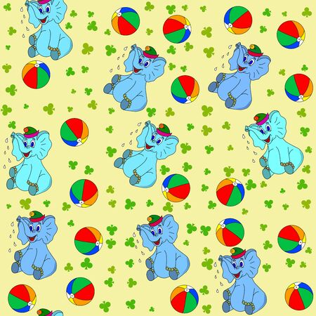 jumbo: Jammies seamless pattern whith jumbo and ball Stock Photo