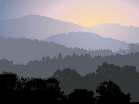 soir�e: Soir�e panorama Illustration