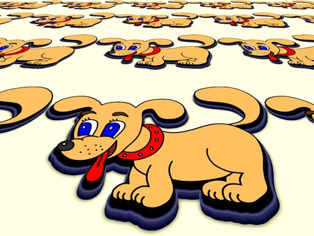 drool: Little dog perspective image Stock Photo