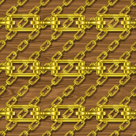 fetter: Iron chains with wood seamless texture
