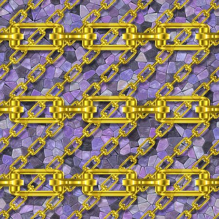 festoons: Iron chains with mosaic seamless texture