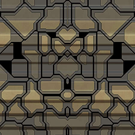 Metal pattern generated seamless texture Stock Photo