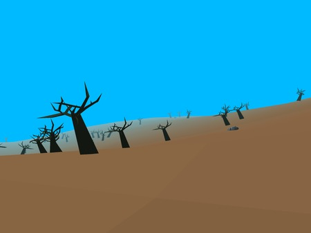 gloom: Low poly retro style moorland