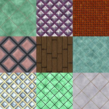 mahogany: Set of floor seamless generated textures