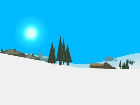 chilly: Low poly retro style frozen land