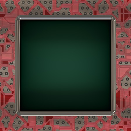 graphic display cards: LCD screen on circuit generated texture