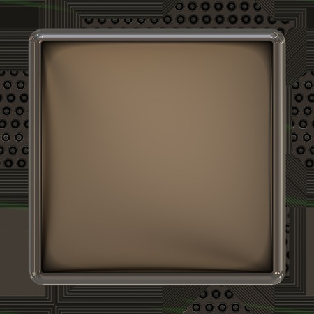 lcd: LCD screen on circuit generated texture