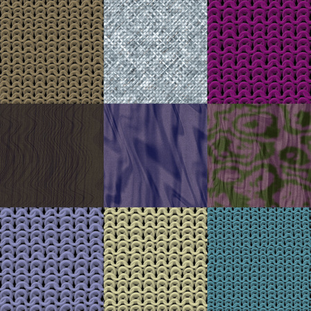 fabric textures: Set of fabric knit generated textures