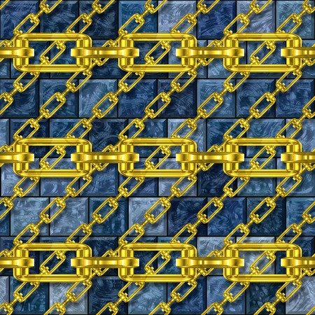 festoons: Iron chains with glazed tiles seamless texture