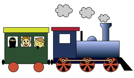 boxcar: Steam train Illustration