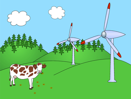electrics: Wind power plants with cow