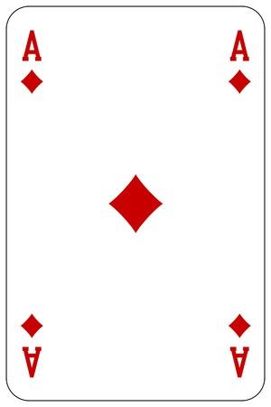 Poker playing card Ace diamond