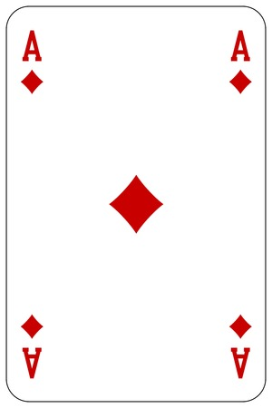 Poker playing card Ace diamond