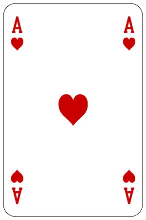 Poker playing card Ace heart Stock Vector - 44636299